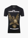 ST071|EAGLE TEE BLACK AND GOLD