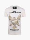 ST072|EAGLE TEE WHITE AND GOLD
