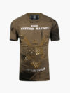 ST073 EAGLE TEE ARMY GREEN AND GOLD