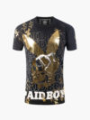 ST076|PAIDBOY TEE 2.0 BLACK AND GOLD